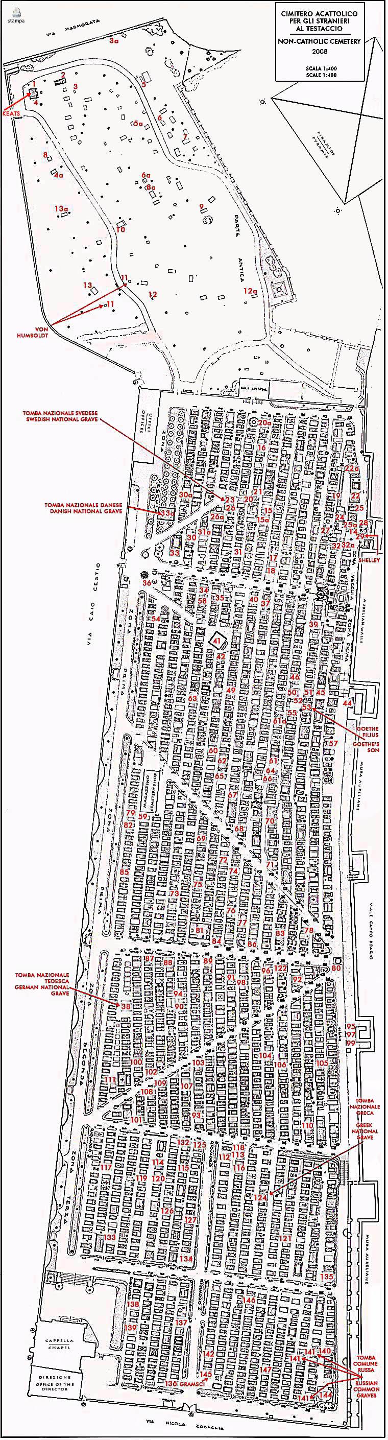 Mappe del cimitero acattolico - Sistema catasto tavolare elenco comuni ...